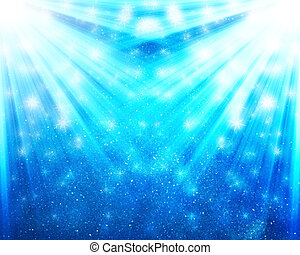 falling stars with light rays