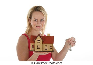 Estate Agent Lady with Keys