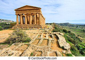 Agrigento - Greek temple - Agrigento, Sicily island in...