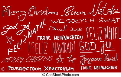 Merry Christmas languages - Merry Christmas - holiday wishes...
