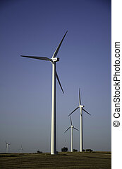 Wind farm in the midwest