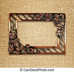 bronze frame on canvas background