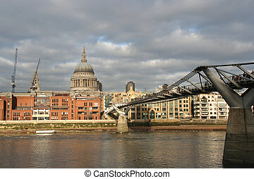 Millennium Bridge across the Thames in London