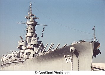 Battleship - Permanently docked battleship in Alabama.