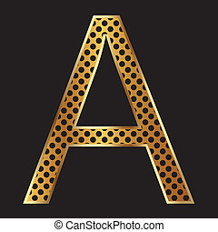 Letter A with tiger style