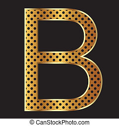 Letter B with tiger style