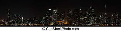 San Francisco Downtown Skyline at Night - San Francisco...