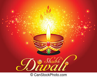 abstract diwali background with sparkle vector illustration