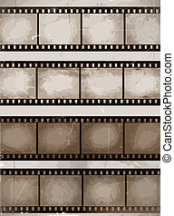 film strips - vintage scratched seamless film strips or...