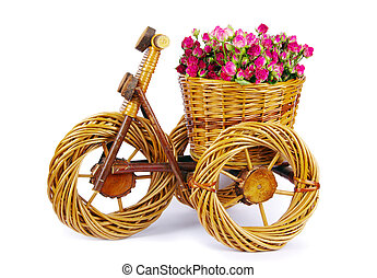bicycle vase with flowers - Decorative bicycle vase with...