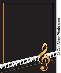 Music Poster - Music entertainment poster, piano keyboard,...