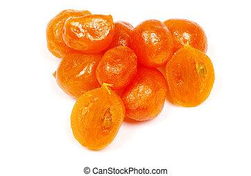 kumquat  - Dried kumquat isolated on a white background