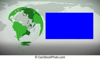 Green Earth spinning on itself displaying copy spaces