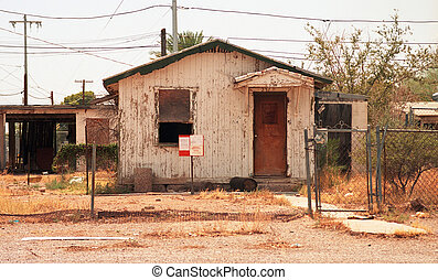 Old condemed house - 26 megapixel image shot on film - as...