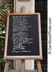 Italian Food Menu in Rome, Italy