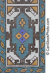 abstract mosaic detail - full frame detail of a abstract...