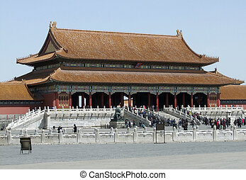 Forbidden City in Beijing - scenery inside the Forbidden...