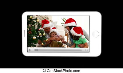 Smartphone showing families