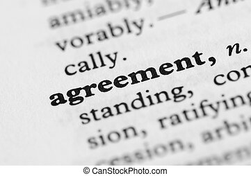 Dictionary Series - Agreement