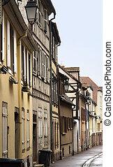 street scenery in Colmar