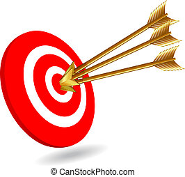 Success - Three arrows on target for success