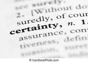 Dictionary Series - Certainty