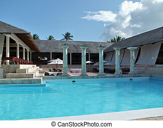 holiday resort with pool