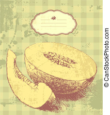 Sweet melon - Vector art-illustration that represents the...