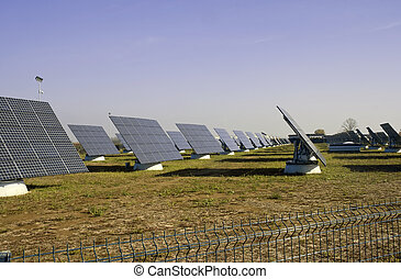 Solar Power Station in the italian country side