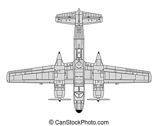 a26 invader - high detailed vector illustration of old...