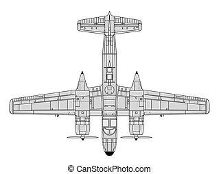 a26 invader - high detailed vector illustration of old...