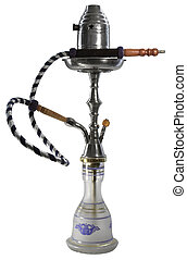 shisha - studio photography of a shisha isolated on white