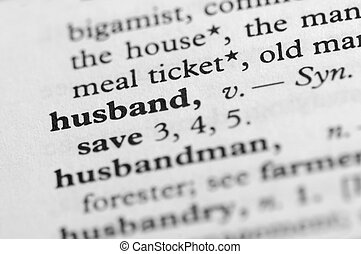 Dictionary Series - Husband