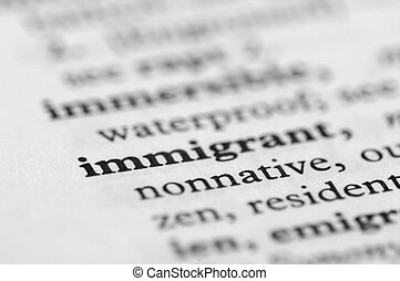 Dictionary Series - Immigrant