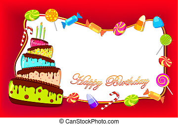 Happy Birthday Card - illustration of happy birthday card...