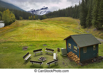 Field for a golf. - A field for a golf, a brazier, benches...
