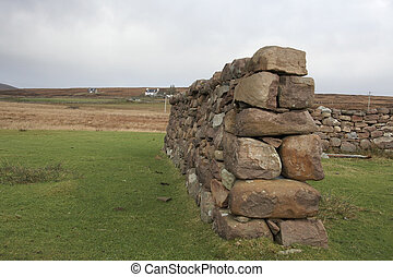 dry stone wall in Scotland