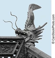 sculpture in the Yuyuan Garden