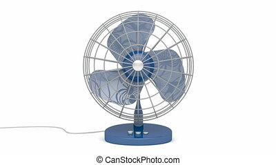 Fan - Electric fan blowing fresh air