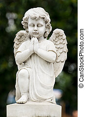 Angel statue - Cute winged Angel statue in praying pose