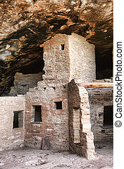 Anasazi Dwelling - Dramatic image of ancient anasazi...