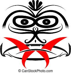 Iban Tribal Mask Vector