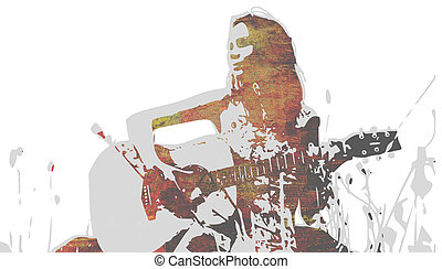 guitar playing woman outdoor