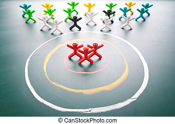 Target your customers - Target concept People be selected in...