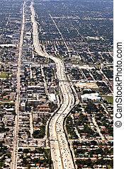 aerial of  Miami