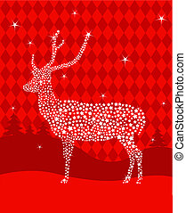 Star Christmas deer