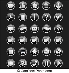 Vector set of 30 web icons