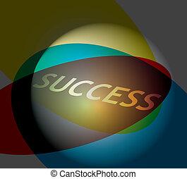 Succes - coolor illustration - Success, concept with color...