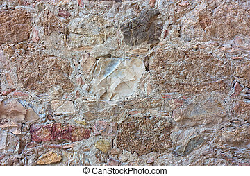 stone wall texture - stone texture - wall of rock blocks of...