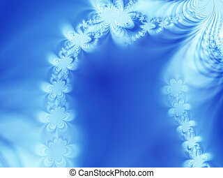 Abstract ice-ferns